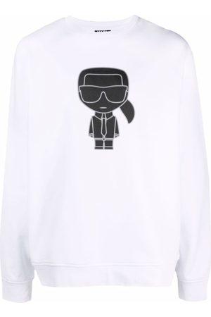 Karl Lagerfeld Men Sweatshirts - K/Ikonik rib-trimmed sweatshirt