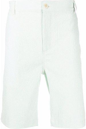 Maison Kitsuné Men Bermudas - Logo-patch cotton bermuda shorts