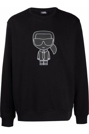 Karl Lagerfeld K/Ikonik rib-trimmed sweatshirt