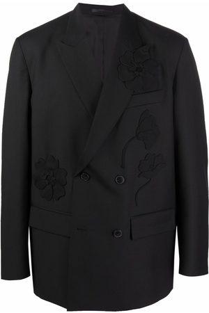 VALENTINO Men Blazers - Flower detail blazer jacket