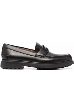 Salvatore Ferragamo Buckle-detail leather loafers
