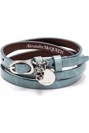 Alexander McQueen Women Bracelets - Skull charm wrap-around bracelet