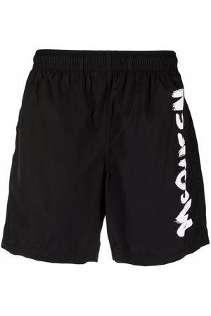 Alexander McQueen Logo-print swim shorts