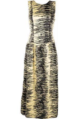 Ganni Zebra-print midi dress