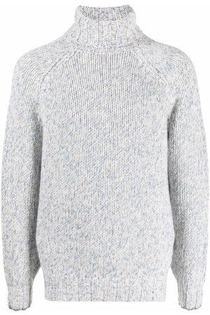 Brunello Cucinelli Intarsia-knit roll-neck jumper - Neutrals