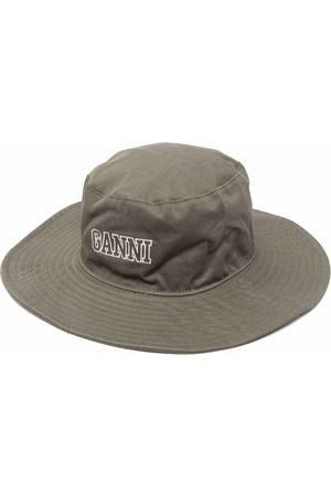 Ganni Logo organic cotton sun hat