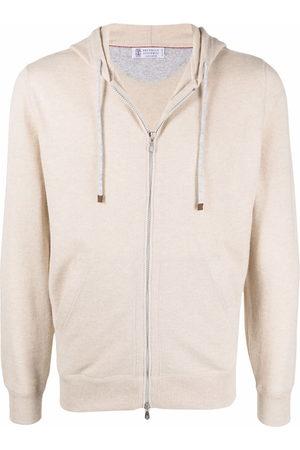 Brunello Cucinelli Zip-up cashmere hoodie - Neutrals