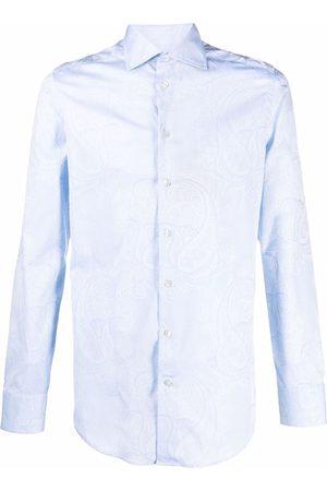 Etro Men Shirts - Paisley-print poplin shirt
