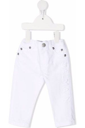 Balmain Jeans - Embroidered-logo elasticated jeans