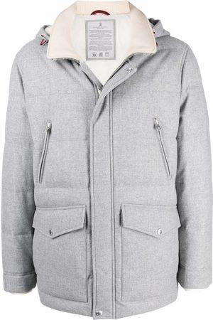 Brunello Cucinelli Hooded padded coat - Grey