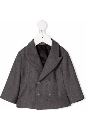 Balmain Cropped double-breasted jacket - Grey