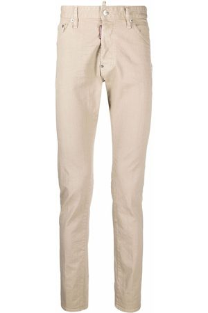 Dsquared2 Logo patch skinny jeans - Neutrals
