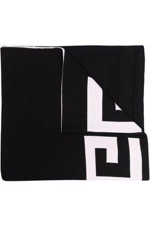 Givenchy Intarsia-knit logo wool scarf