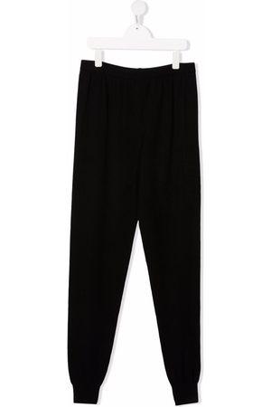 Balmain TEEN raised-logo knitted trousers