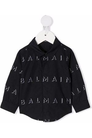 Balmain Logo motif-print shirt