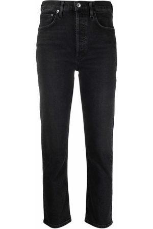 AGOLDE Women High Waisted - High-waisted straight-leg jeans