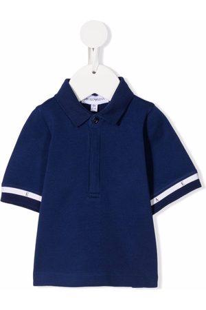 Emporio Armani Polo Shirts - Stripe-detail short-sleeved polo shirt