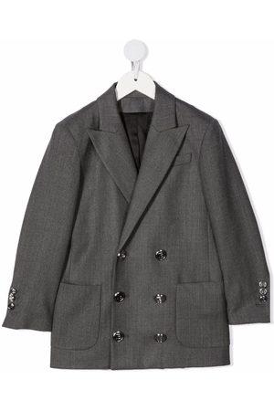 Balmain Double-breasted tailored blazer - Grey