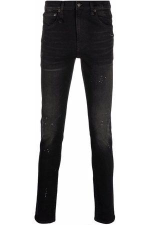 R13 Dark-wash slim-fit jeans