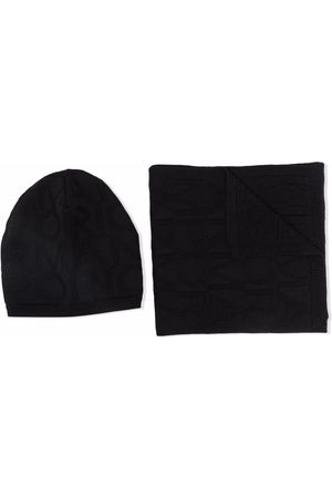 Emporio Armani Beanies - Knitted beanie and scarf set