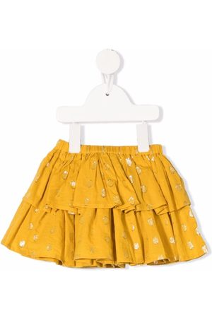 Molo Kids Bianca polka-dot tiered skirt