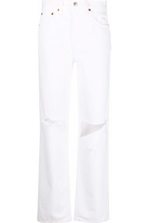 RE/DONE Women High Waisted - Pipe high-waist straight jeans
