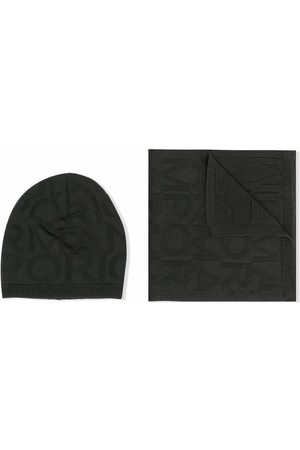 Emporio Armani Knitted beanie and scarf set
