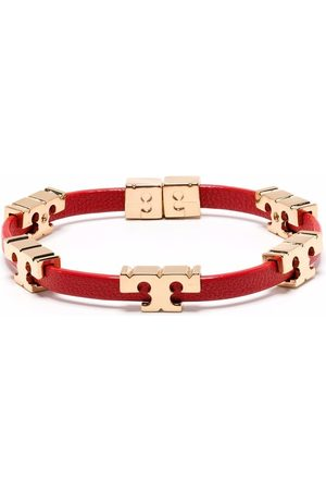 Tory Burch Serif-T 18kt gold-plated stackable bracelet