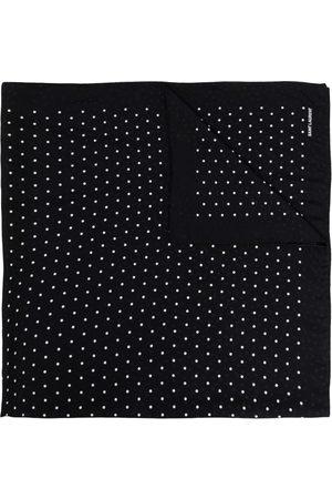 Saint Laurent Polka-dot square scarf