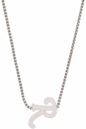 RAF SIMONS Men Necklaces - R letter pendant necklace