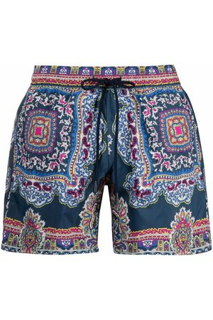 Etro Men Swim Shorts - Paisley-print swimming trunks