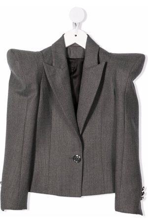 Balmain Structured-shoulder blazer - Grey