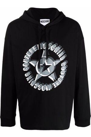 Moschino Men Hoodies - Logo-print long-sleeved hoodie