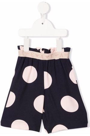 Emporio Armani Shorts - Polka-dot high-waist shorts