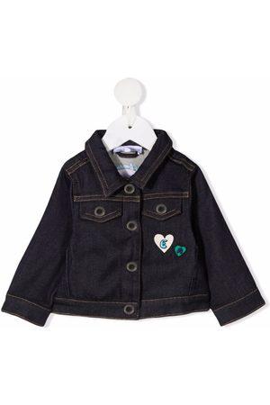 Emporio Armani Bomber Jackets - Embroidered smile denim jacket