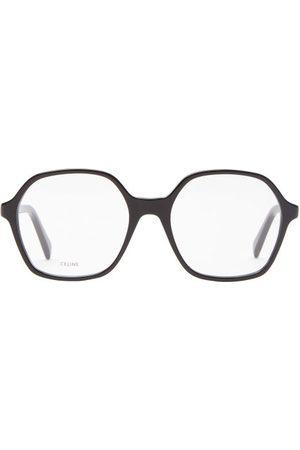 Céline Oversized Square Acetate Glasses - Womens