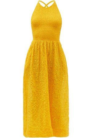 Three Graces London Soleil Cotton-blend Seersucker Sun Dress - Womens