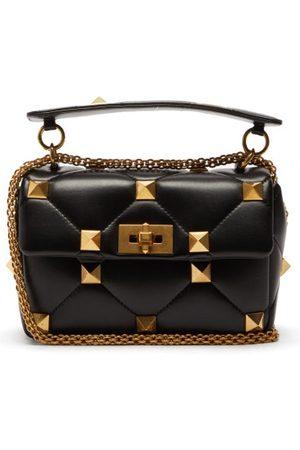 VALENTINO GARAVANI Roman Stud Medium Quilted-leather Shoulder Bag - Womens