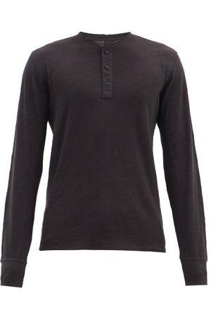 RAG&BONE Classic Slubbed Cotton-jersey Henley T-shirt - Mens