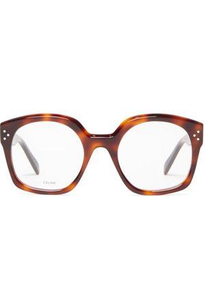 Céline Square Tortoiseshell-acetate Glasses - Womens - Tortoiseshell