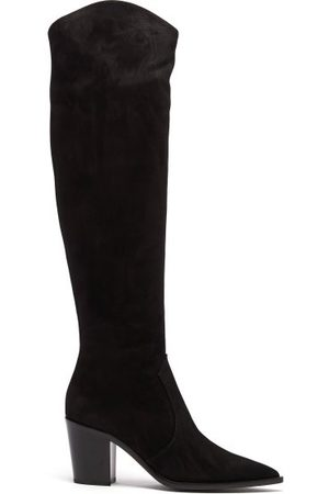 Gianvito Rossi Denver 70 Suede Knee-high Boots - Womens
