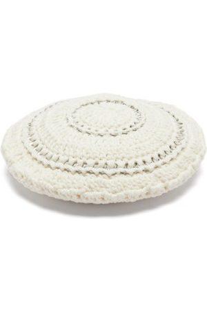 Ganni Crocheted Cotton Beret - Womens