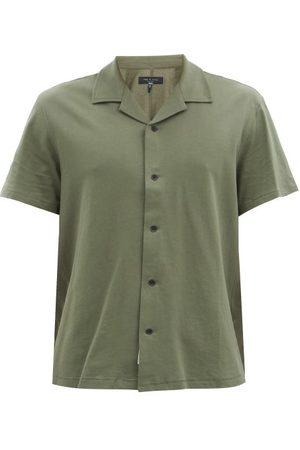 RAG&BONE Avery Cuban-collar Cotton-jersey Shirt - Mens - Khaki