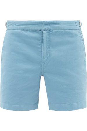 Orlebar Brown Bulldog Cotton-blend Twill Straight-leg Shorts - Mens - Light
