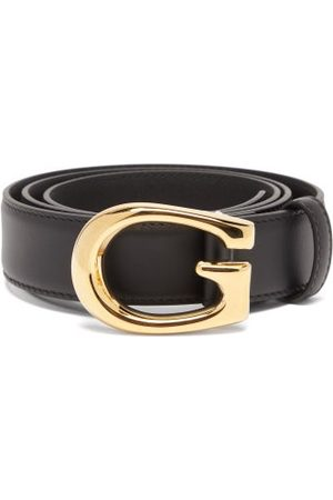 Gucci G-buckle Leather Belt - Mens