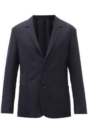 Paul Smith Wool Grain De Poudre Single-breasted Suit Jacket - Mens - Dark Navy