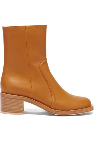 Gianvito Rossi Leather Ankle Boots - Womens - Tan