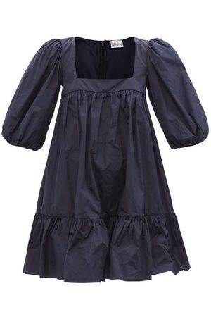 RED Valentino Square-neck Taffeta Mini Dress - Womens - Navy