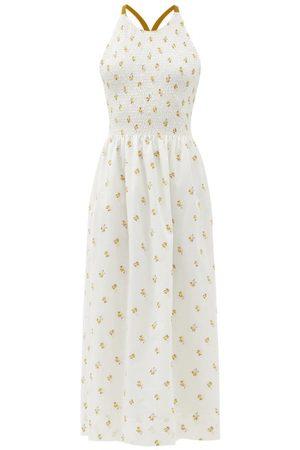 Three Graces London Soleil Embroidered Cotton-blend Sun Dress - Womens - Multi