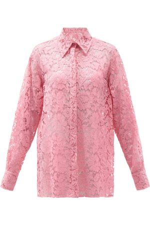 VALENTINO Floral-lace Shirt - Womens